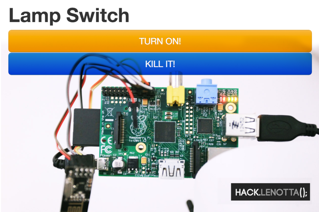 [Raspberry Pi - Arduino ]Lamp Switch